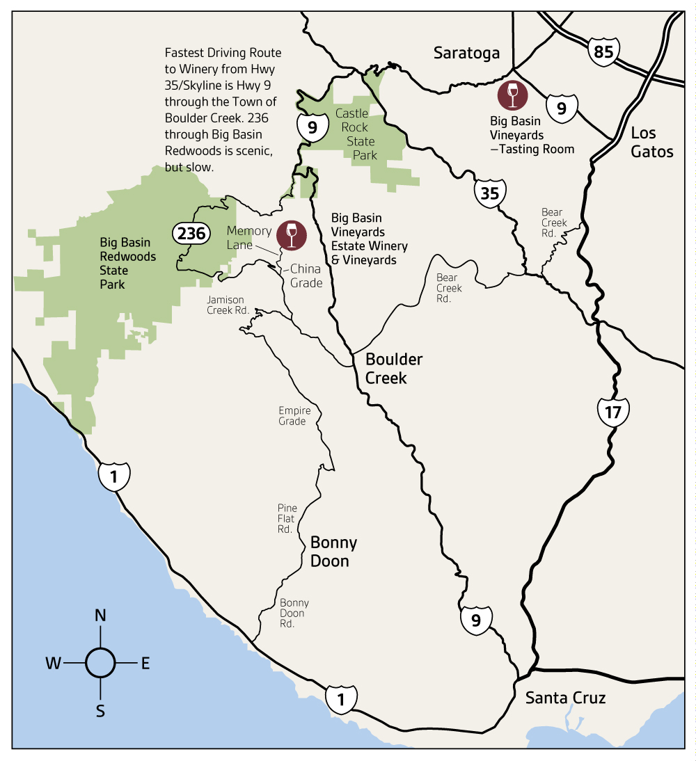 Directions | Big Basin Vineyards on saratoga ca wineries, saratoga ca map, saratoga winery, saratoga parks map, saratoga wine trail, saratoga wineries los gatos, saratoga wine tasting,