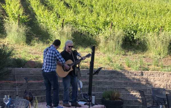 guitarist on patio