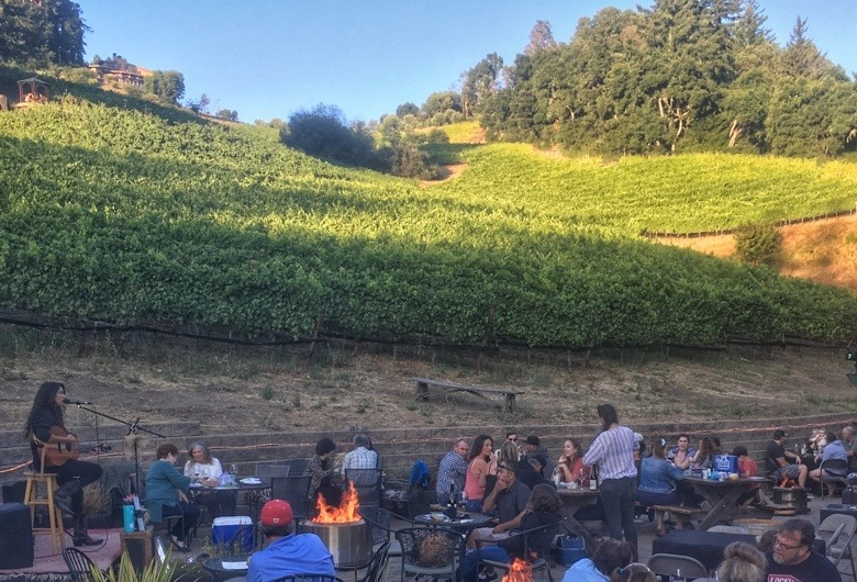 Fireside Friday at vineyard