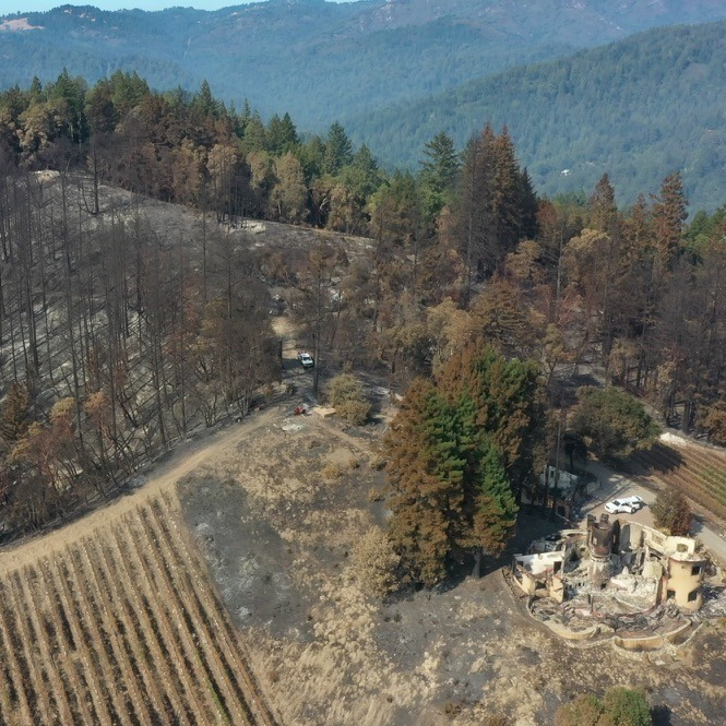 view of BBV after fire